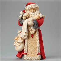 Foundations Santa with Baby Heart of Christmas Figurine, 4046828