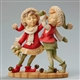 Foundations Boy and Girl Elf Dancing Heart of Christmas Figurine, 4046835
