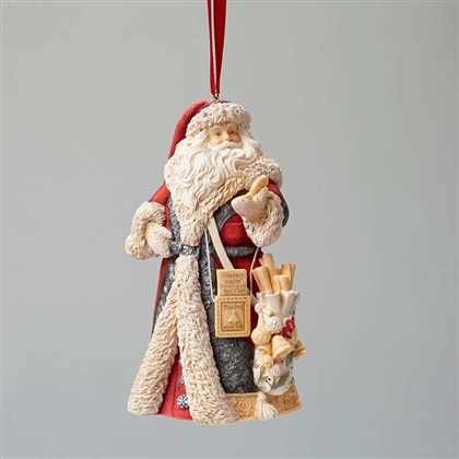 Foundations Masterpiece Santa Heart of Christmas Ornament 4046856