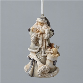 Foundations Santa with Baby Jesus Ornament, 4047721