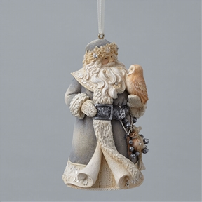 Foundations Santa with Owl Ornament, 4047722