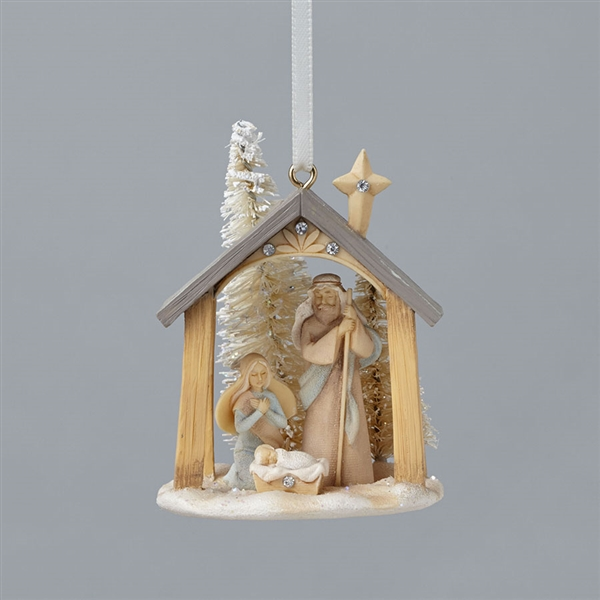 Foundations Mini Nativity Hanging Ornament 4047725