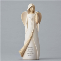 Foundations Angel with Birds Figurine 4049241