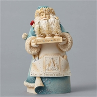 Foundations Santa with Christmas Trees Figurine