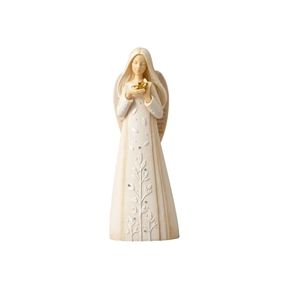 Foundations Angel with Dove Figurine