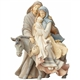Foundations Holy Family Traveling with Donkey Figurine 4058697