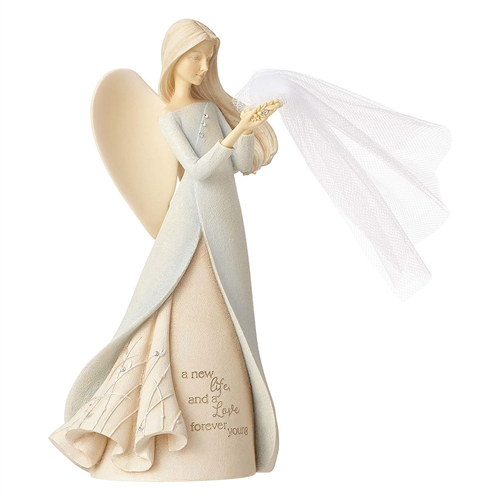 Foundations Bless the Bride Angel Figurine