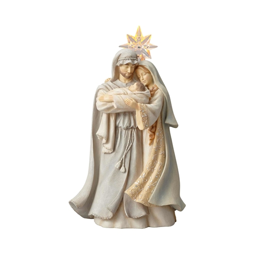 Foundations Holy Family with Star Light-up Figurine 6001145