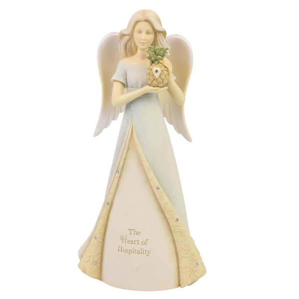 Foundations Heart of Hospitality Angel Figurine, 6006497