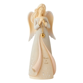 Foundations Heart of Gold Angel Figurine, 6006499