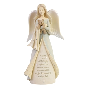 Foundations New Baby Angel Figurine, 6006504