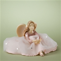 Pink Guardian Angel with Tulle - Foundations Figurine, 4025220