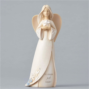 Foundations 'Just Believe' Angel with Star Figurine, 4049238