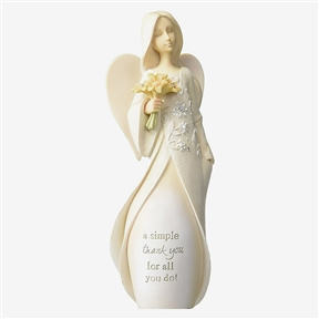 Foundations 'A Simple Thank You' Angel with Sunflowers Figurine, 4049239