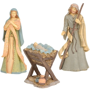 Foundations 3-Piece Holy Family Nativity Figurine Set, 6004076