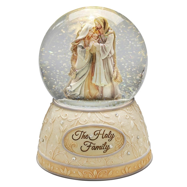 Foundations Holy Family LIghted Waterball, 6004094