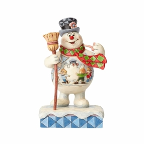 Frosty the Snowman with Scene on Belly Figurine