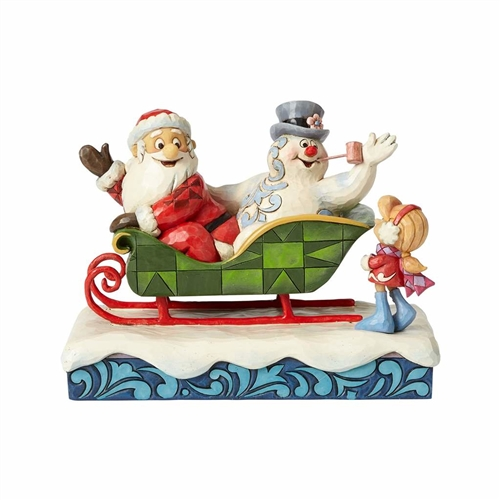Frosty, Santa and Karen with Sleigh Figurine by Jim Shore | 4058189