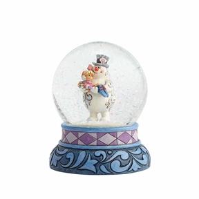 Frosty Holding Karen Snow Globe by Jim Shore