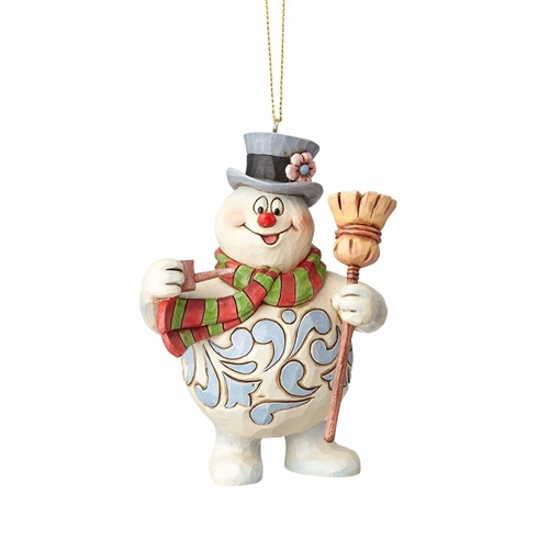 Frosty with Broom Ornament by Jim Shore 4058192