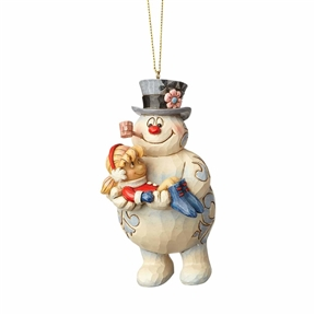Frosty Holding Karen Ornament by Jim Shore
