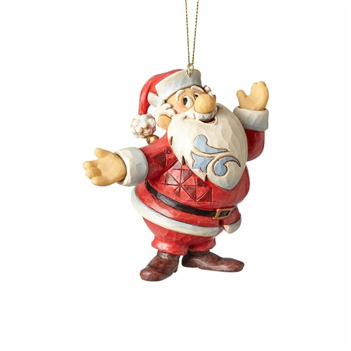 Frosty the Snowman Santa Claus Ornament by Jim Shore