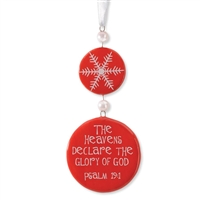 Psalm 19:1 Snowflakes Tree Ornament - Gregg's Gifts, 4025116