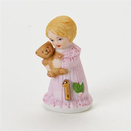 Age 1, Blonde Growing Up Girls Figurine by Enesco E2301