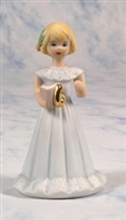 Age 6, Blonde - Growing Up Girls Figurine, E2306