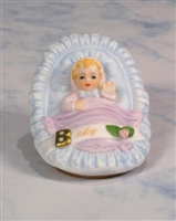 Newborn Baby, Blonde - Growing Up Girls Figurine, E3399