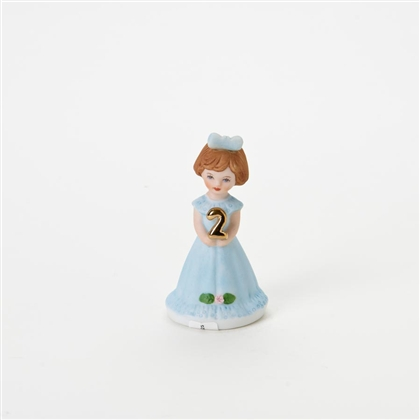 Age 2, Brunette - Growing Up Girls Figurine, E9526