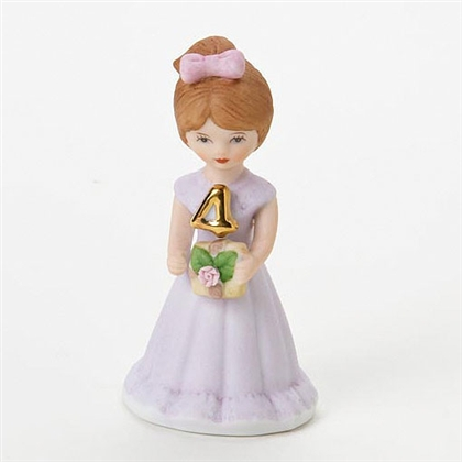Age 4, Brunette - Growing Up Girls Figurine, E9528