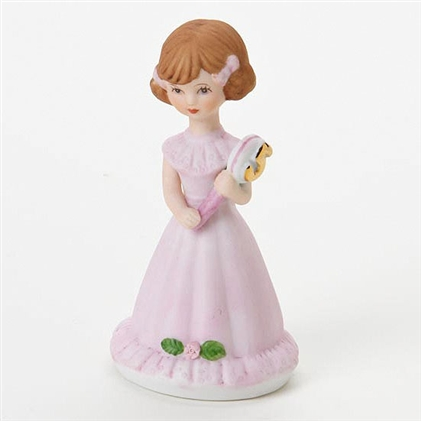 Age 5, Brunette - Growing Up Girls Figurine, E9529