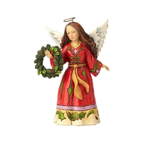 Heartwood Creek Pint Sized Angel with Wreath Figurine by Jim Shore, 4058806