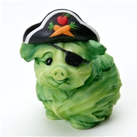 Cabbage Pig Pirate - Home Grown Halloween Figurine, 4017526
