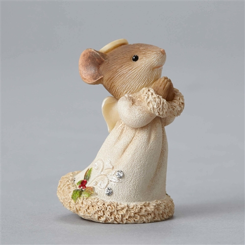 Heart of Christmas Mouse Angel Figurine