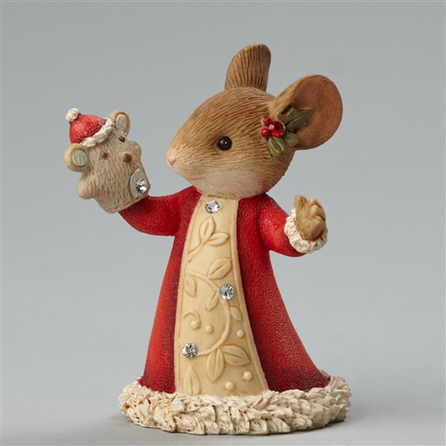 Heart of Christmas Mouse with Puppet Foundations Figurine