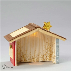 Heart of Christmas Light-Up Wee Nativity Creche