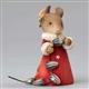 Heart of Christmas Mouse Making Sunflower Seed Garland Figurine