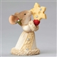Heart of Christmas Mouse with Cheese Star Figurine