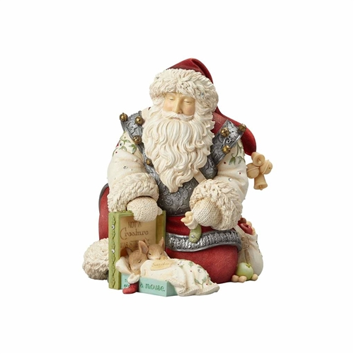 Heart of Christmas Santa with Mice Figurine