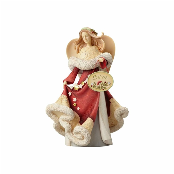 Heart of Christmas Angel with Stars and Plaque Figurine by Foundations, 4057647