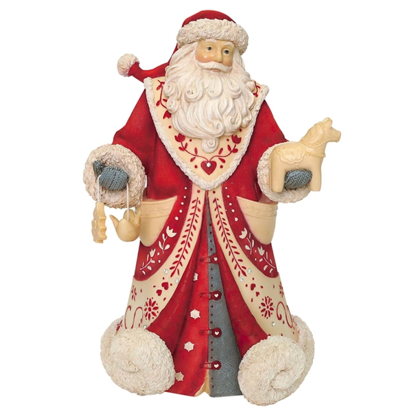 Heart of Christmas God Jul Scandinavian Santa Figurine, 6001375
