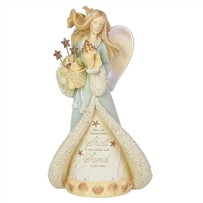 Heart of Christmas Seaside Angel Figurine, 6003906