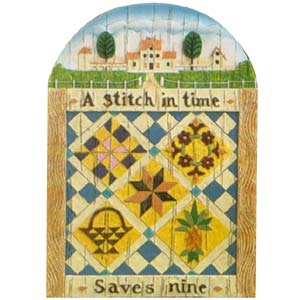 Stitch in Time - Jim Shore, Heartwood Creek Plaque, 114431