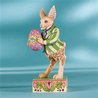 Heartwood Creek Easter Bunny with Egg Figurine by Jim Shore, 4007542