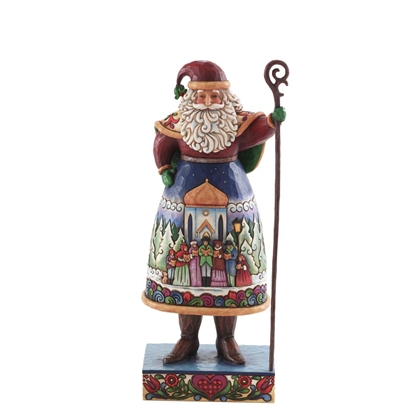 Heartwood Creek Santa with Carolers Scene Figurine by Jim Shore 4007924