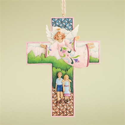 Guardian Angel Cross - Jim Shore, Heartwood Creek Ornament, 4008104