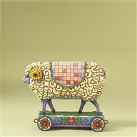 Heartwood Creek Wooly Ram Sheep On Cart Figurine by Jim Shore, 4008181
