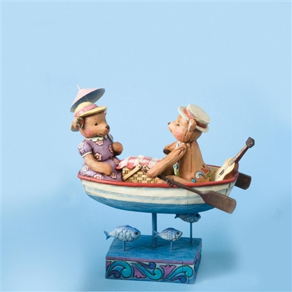 Heartwood Creek Bear Couple in Row Boat Figurine by Jim Shore, 4009602